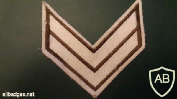 דרגת סמל שני משמר הגבול ישן בד img1867