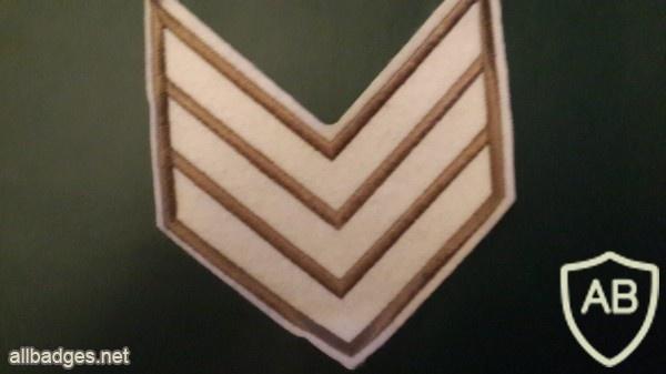דרגת סמל ראשון משמר הגבול ישן בד img1869