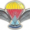 LESOTHO Parachute Instructor wings, silver, 2nd series