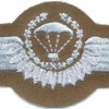 WEST GERMANY Bundeswehr - Army Parachutist wings, Senior, Test Design Type III, 1985 - 1986