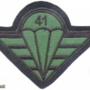 CZECH REPUBLIC 4th Rapid Deployment Brigade, 41st Mechanized (Infantry) Battalion parachutist patch, field version img3760