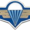 CZECH REPUBLIC Air Force Parachute Instructor badge, blue background