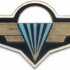 CZECH REPUBLIC Air Force Parachute Instructor badge, black background