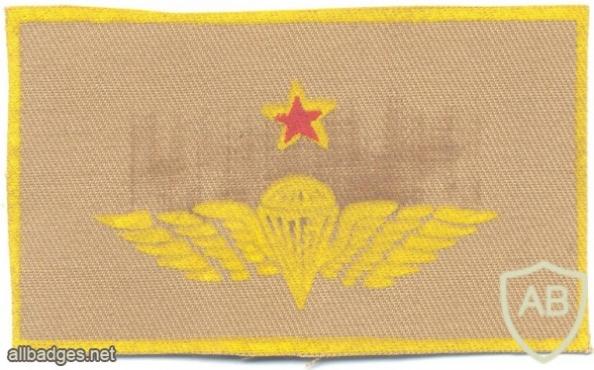 COLOMBIA Airborne Parachutist wings, Senior, printed on tan img5895