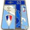 FRANCE Army 53rd Signals Regiment pocket badge