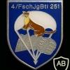 251st Parachute Battalion, 4th Company badge