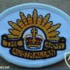 Australian Army arm patch, white