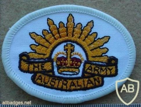 Australian Army arm patch, white img9782