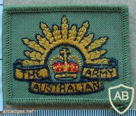 Australian Army arm patch, rectangular img9786