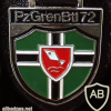72nd Armored Grenadiers Battalion badge, type 2