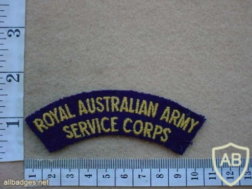 Royal Australian Army Service Corps shoulder title img10203