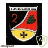 332nd Armored Grenadiers Battalion badge, 2nd Company img10302