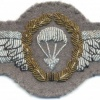 WEST GERMANY Airborne Parachutist wings, 3rd Class, bullion, 1966-1983