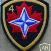 Canadian Army 4 Brigade arm patch