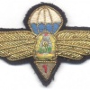ROMANIA (Socialist Republic of) Air Force Parachutist wings, 1st Class, 1965-1977, bullion, FAKE
