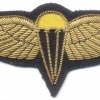 BAHRAIN Airborne Parachute jump wings, bullion, gold