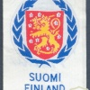 UNITED NATIONS - Finland peacekeeping contingents generic patch sleeve patch, silk bevo