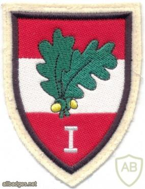 AUSTRIA Army (Bundesheer) - 1st Corps Command sleeve patch, gala uniform, type 2 img11951