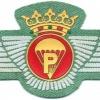 Legion Airborne Parachute Rigger wings, pre-1977, cloth, silver