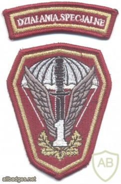 POLAND 1st Special Commando Regiment parachutist patch w/ Special Operations tab img20733