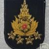 Thailand Army General rank cap badge