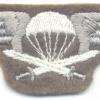 FINLAND Parachutist qualification jump wings, 2nd Class, cloth
