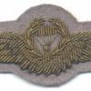 WEST GERMANY Bundeswehr - Army Parachutist wings, Master, Test Design Type IV, 1985 - 1986, bullion