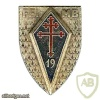France 19th Infantry Division pocket badge, type 1