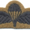 UK British Army Parachute Jump wings, black on green