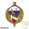 FRANCE 18th Parachute Hunters Regiment pocket badge