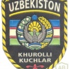 UZBEKISTAN Armed Forces generic sleeve patch, 1990s