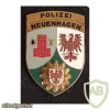 Germany Brandenburg State Police - police station Neuenhagen pocket badge