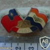 Taiwan and South African National flags lapel pin img26975