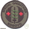KOSOVO Special Operations Medic sleeve patch img27825