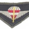AUSTRIA Army (Bundesheer) - Jagdkommando Special Operations parachute wings, full color
