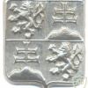 Czech and Slovak Federative Republic Army cap badge, silver
