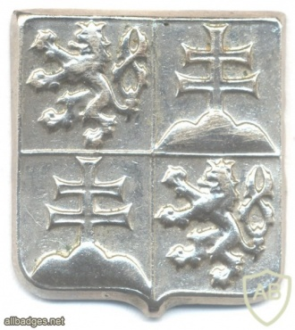 Czech and Slovak Federative Republic Army cap badge, silver img27933