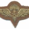 SAUDI ARABIA Army Parachute qualification badge, bullion