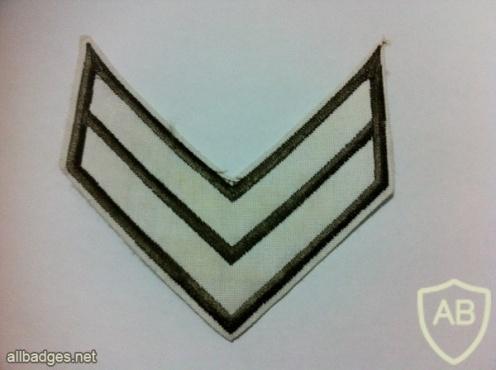 דרגת סמל שני משמר הגבול ישן בד img29993