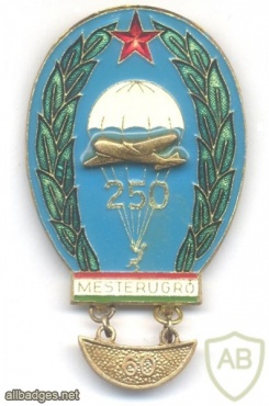 HUNGARY (People's Republic) Army Master Parachutist badge, 250+60 jumps img32038