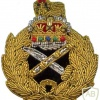 British General Officers Queens Crown Embroidered Cap Badge