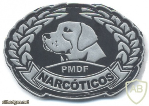 BRAZIL Military Police - Federal District Narcotics Unit badge, rubber img33728