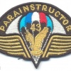 CZECH REPUBLIC Army 43rd Airborne Battalion Parachute Instructor cloth badge