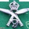 9th Gurkha Rifles cap badge, King's crown