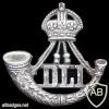 Durham Light Infantry cap badge, King's crown
