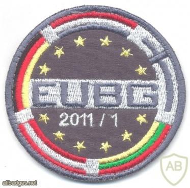EU Battlegroup 107 (EUBG 2011/1) sleeve patch, 2011 img34725