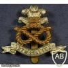 North Staffordshire Regiment cap badge, bimetal, type 2
