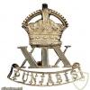 19th Punjabis cap badge, King's crown img36752