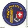 SWITZERLAND 12th Light AA Unit, 4th battery patch