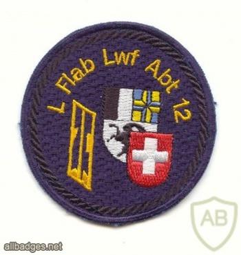 SWITZERLAND 12th Light AA Unit, Staff battery patch, type 2 img39328